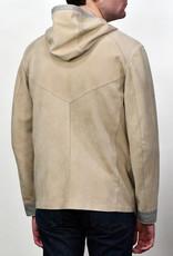 Liles Bespoke Goat Suede Hooded Jacket W/Jersey Lining