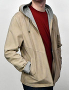 Liles Bespoke  Liles Bespoke Goat Suede Hooded Jacket W/Jersey Lining