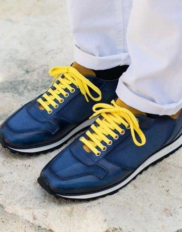 Scarpe di Bianco Leather Gabardine Sneaker