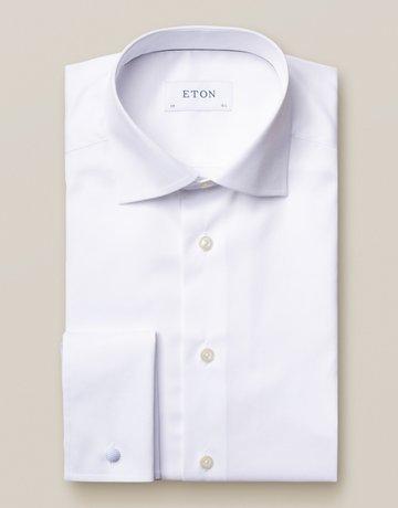 Eton Eton Slim Fit White French Cuff Dress Shirt