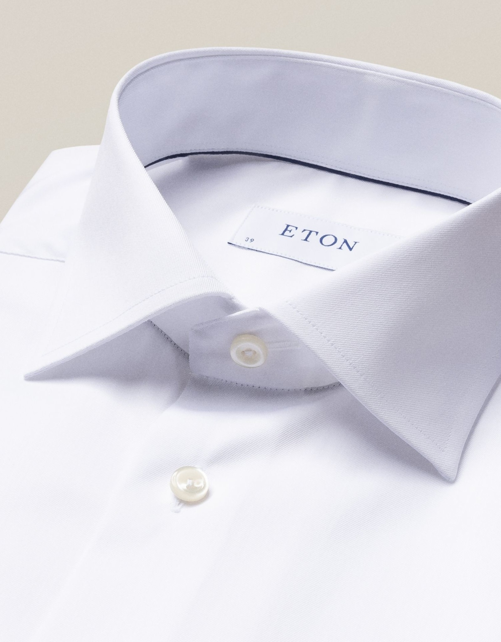 Eton Eton Slim Fit White French Cuff Dress Shirt