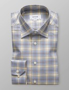 Eton Eton Contemporary Fit Blue/Yellow Check