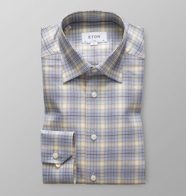 Eton Eton Contemporary Fit Blue/Yellow Check
