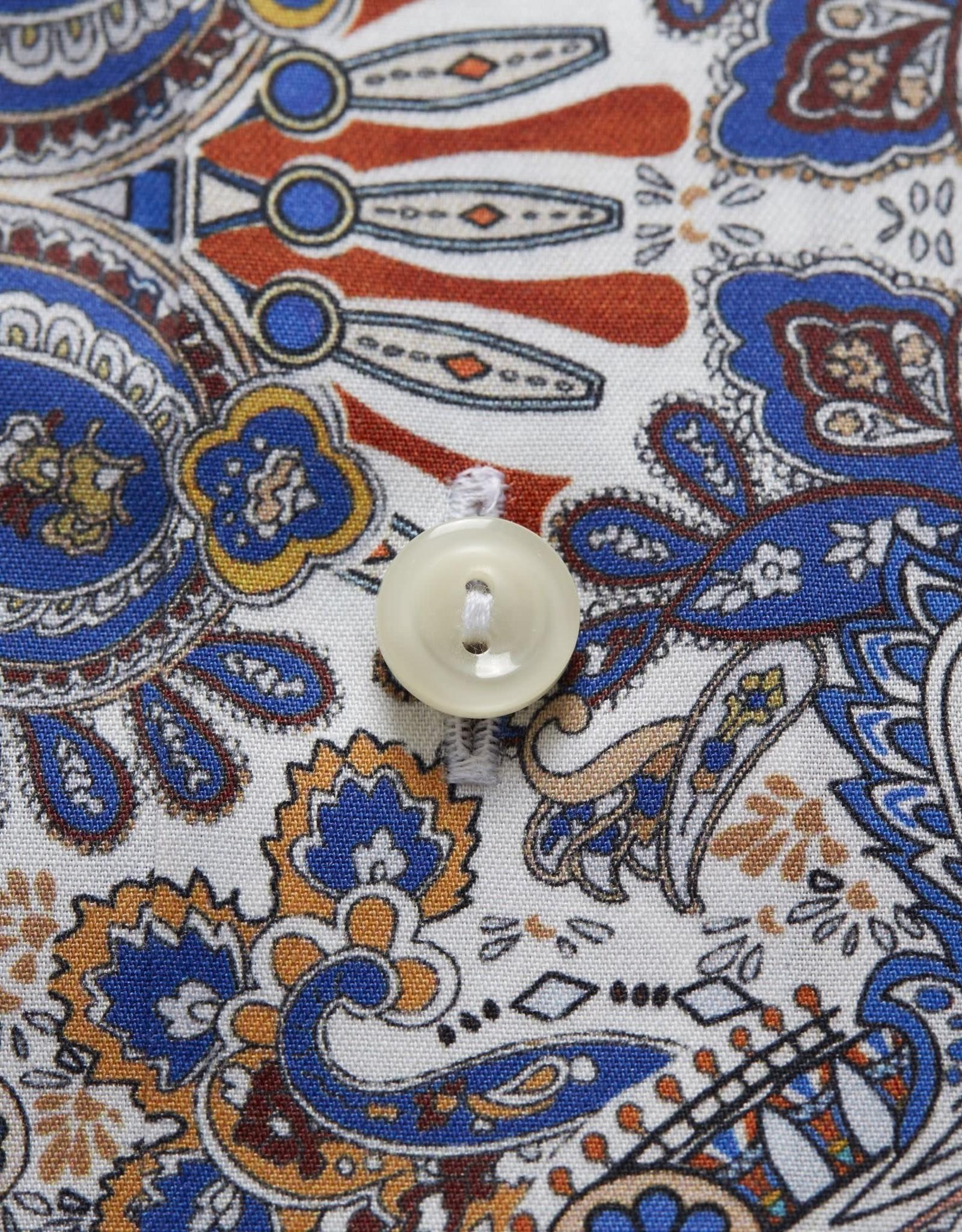 Eton Eton Contemporary Fit Dress Shirt Blue/Orange Pattern