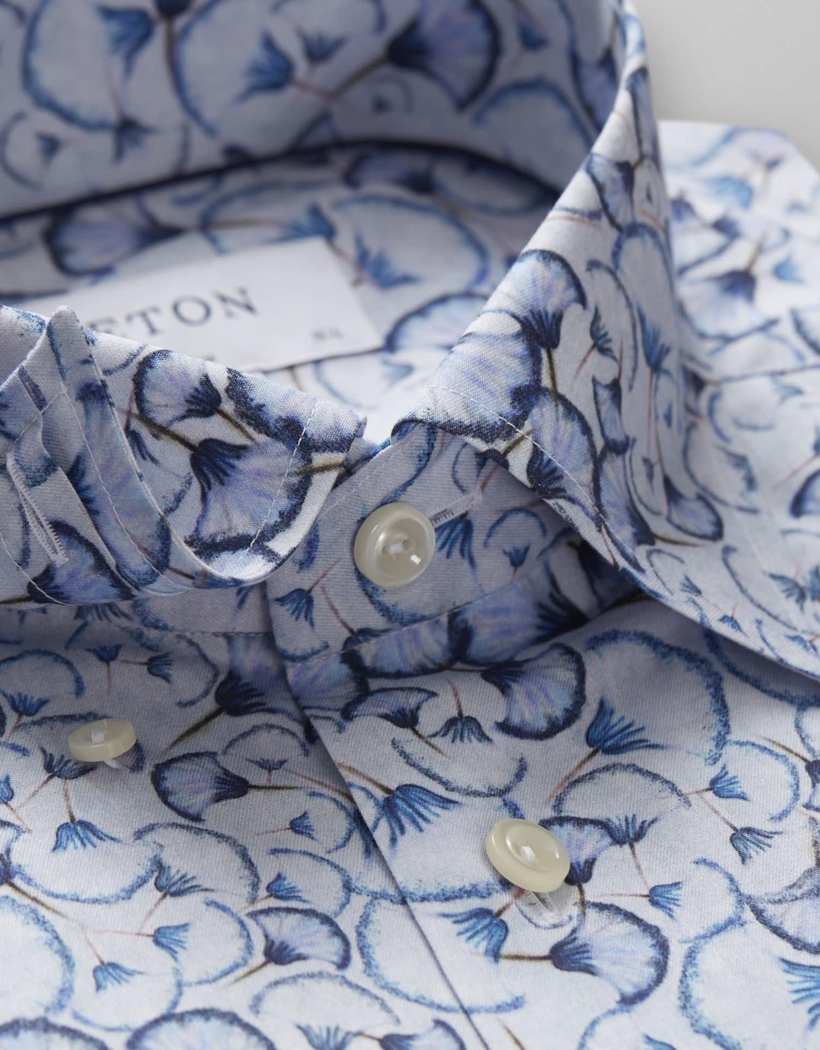 Eton Eton Contemporary Fit Dress Shirt Blue Dandelion Print