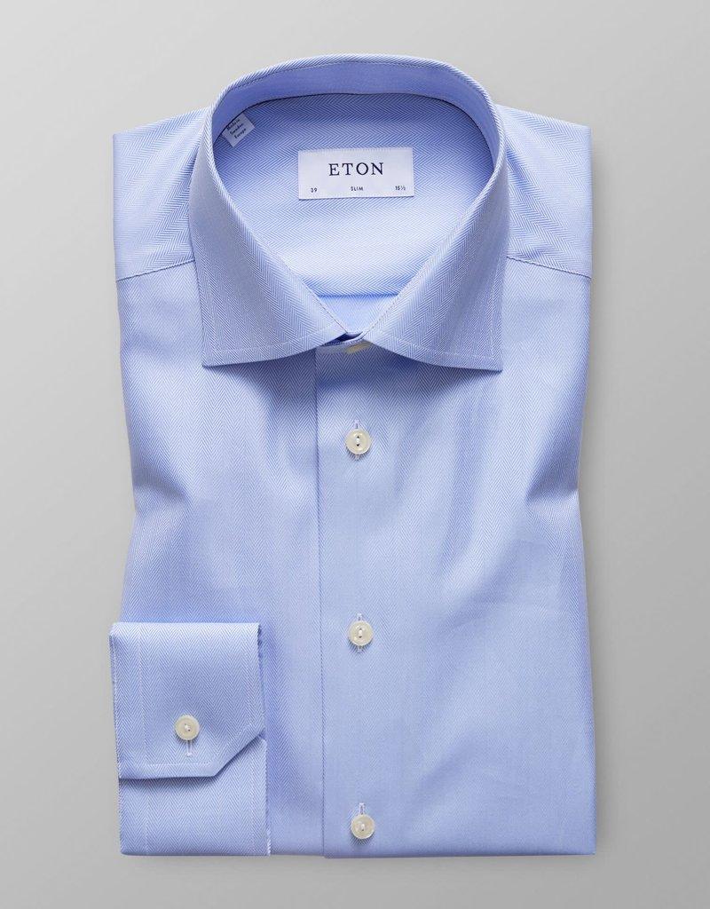 Eton Eton Slim Fit Dress Shirt Herringbone Pattern