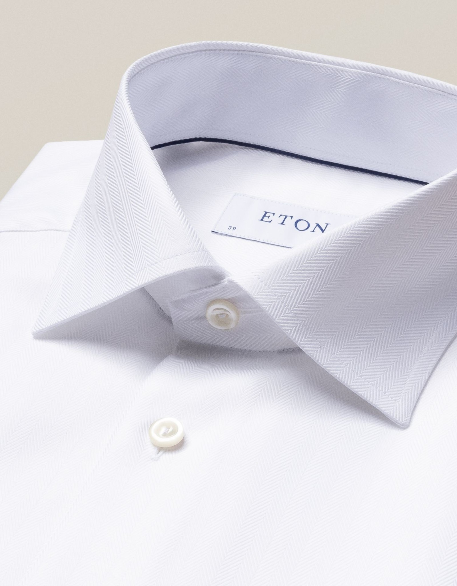 Eton Eton Slim Fit Dress Shirt Herringbone Pattern