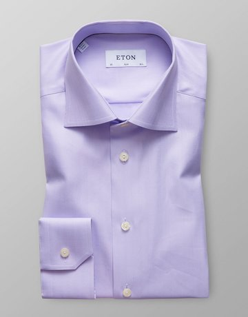 Eton Eton Contemporary  Fit Dress Shirt Herringbone Pattern