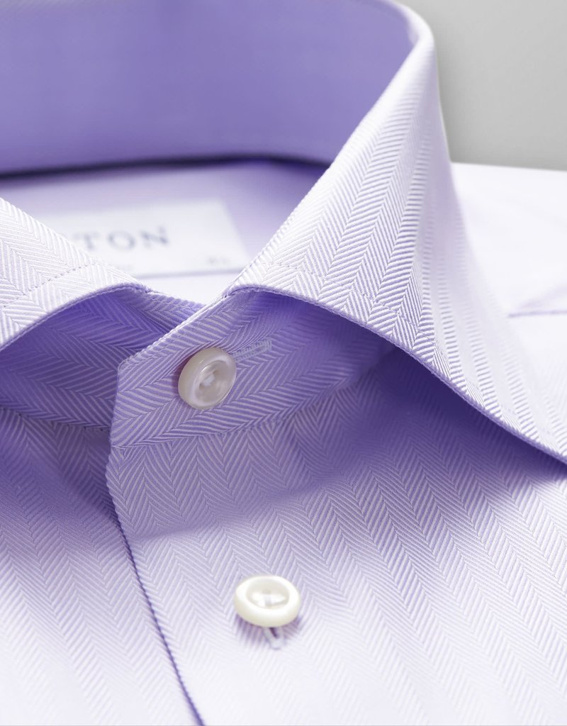 Eton Eton Contemporary  Fit Dress Shirt Herringbone