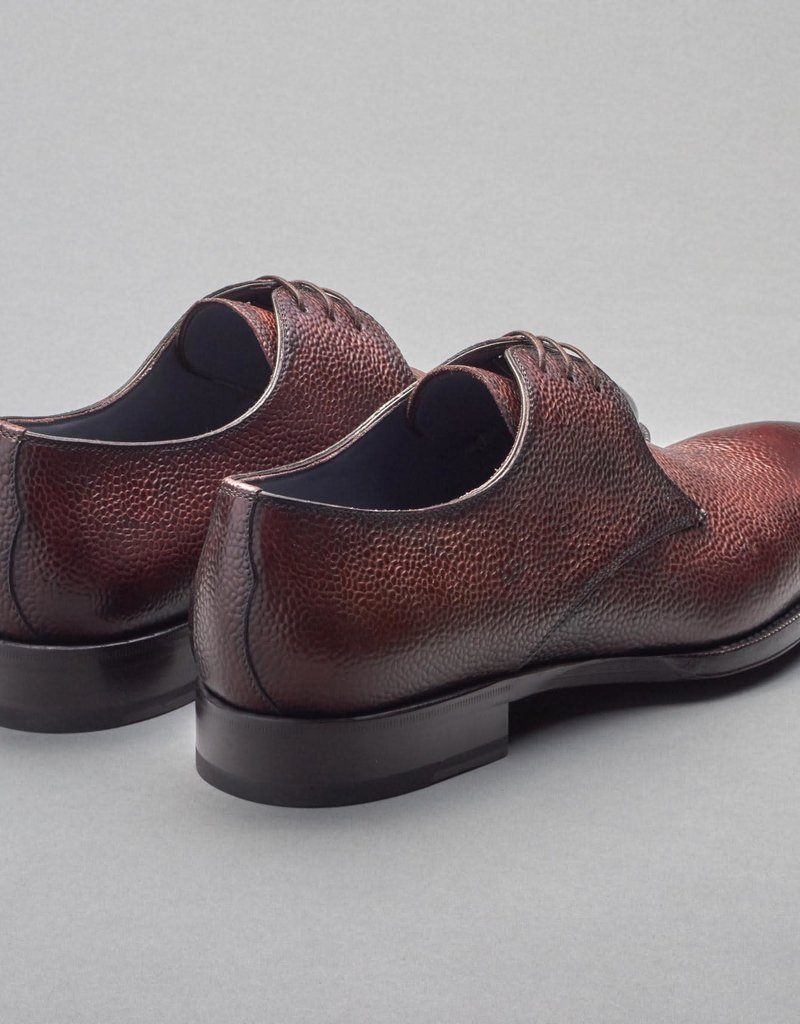 Scarpe di Bianco, SBP899 Pebble Grain Lace Up Shoe