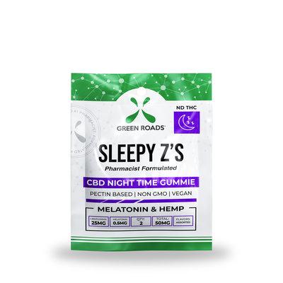 GREEN ROADS CBD GREEN ROADS CBD SLEEPY Z'S NIGHT TIME GUMMIES 50MG