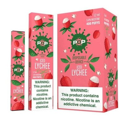 POP POP DISPOSABLE DEVICE 5.0% - ICED LYCHEE