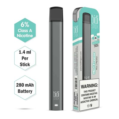 BIDI STICK BIDI STICK 6% DISPOSABLE PEN - MINT FREEZE