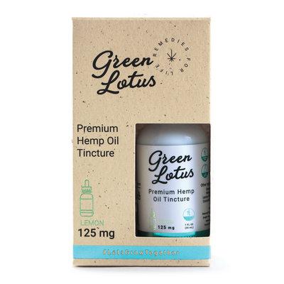 GREEN LOTUS CBD GREEN LOTUS HEMP OIL TINCTURE - LEMON