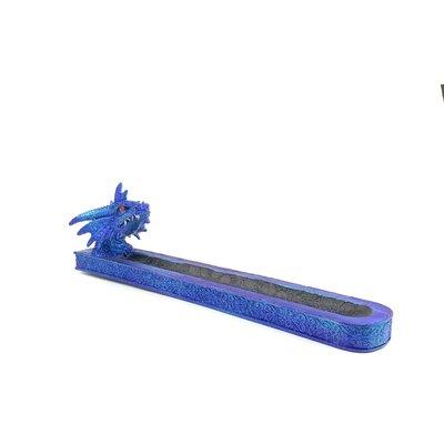"""INCENSE BURNER 12"""" BLUE DRAGON DESIGN"""