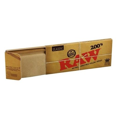 RAW RAW CLASSIC - 200'S ROLLING PAPERS KINGSIZE SLIM