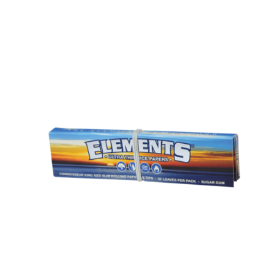 ELEMENTS ELEMENTS - KING SIZE SLIM ROLLING PAPERS  + TIPS