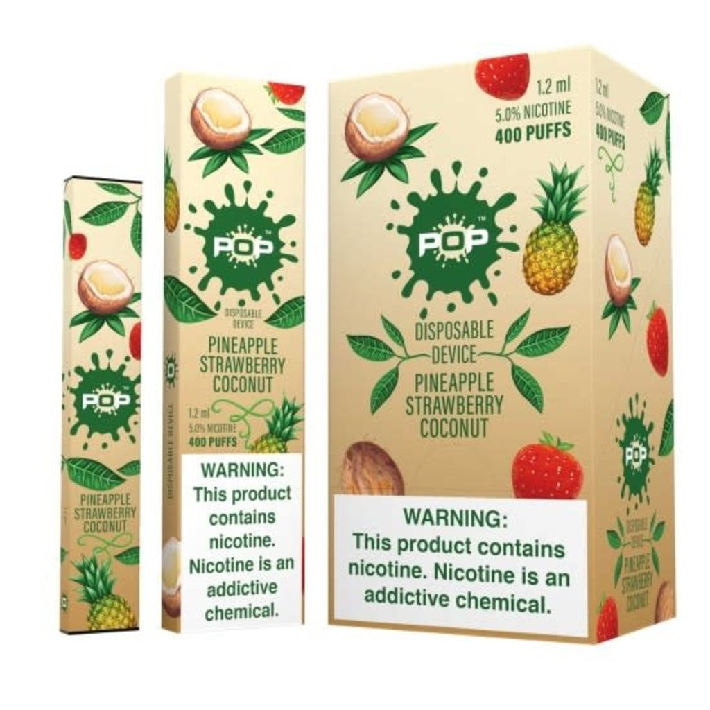 POP POP DISPOSABLE DEVICE 5.0% - PINEAPPLE STRAWBERRY COCONUT