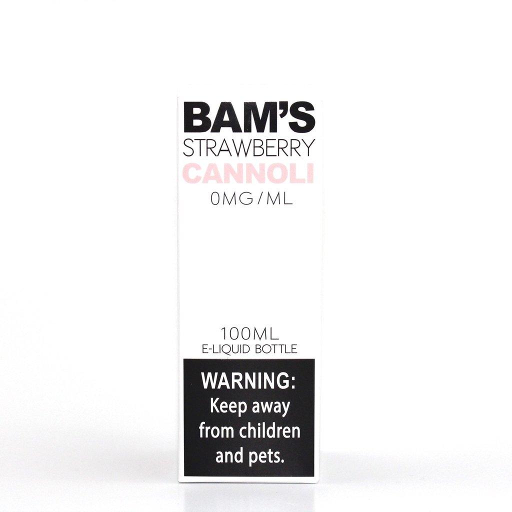 BAM'S BAM'S E-JUICE 100ML - STRAWBERRY CANNOLI