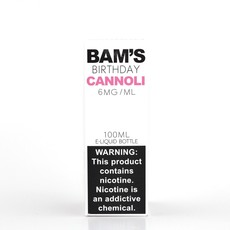 BAM'S BAM'S E-JUICE 100ML - BIRTHDAY CANNOLI