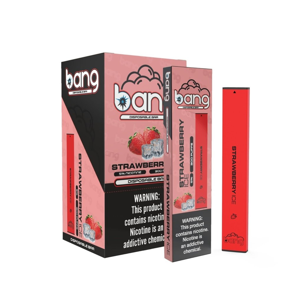 BANG DISPOSABLE DEVICE 5% - STRAWBERRY ICE
