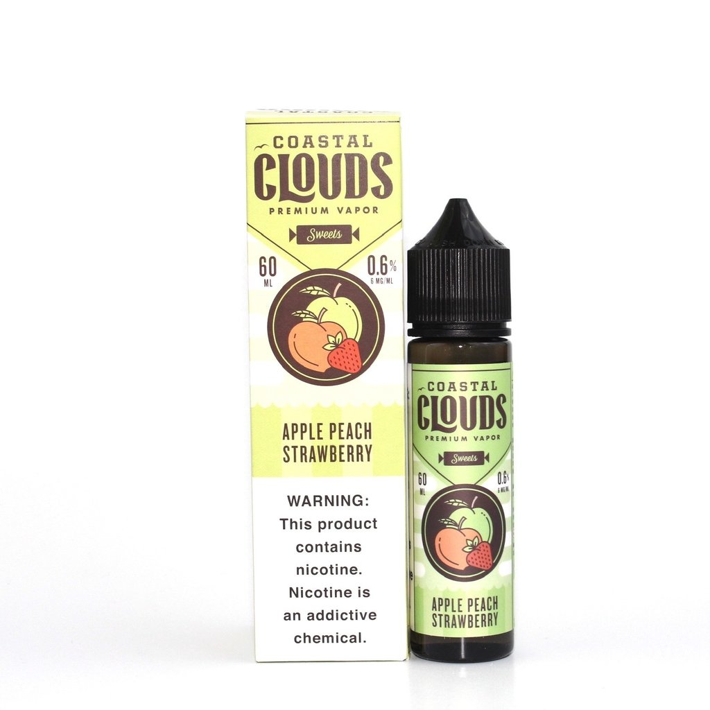 COASTAL CLOUDS E-JUICE 60ML - APPLE PEACH STRAWBERRY