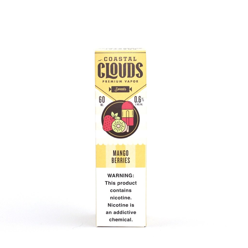COASTAL CLOUDS E-JUICE 60ML - MANGO BERRIES