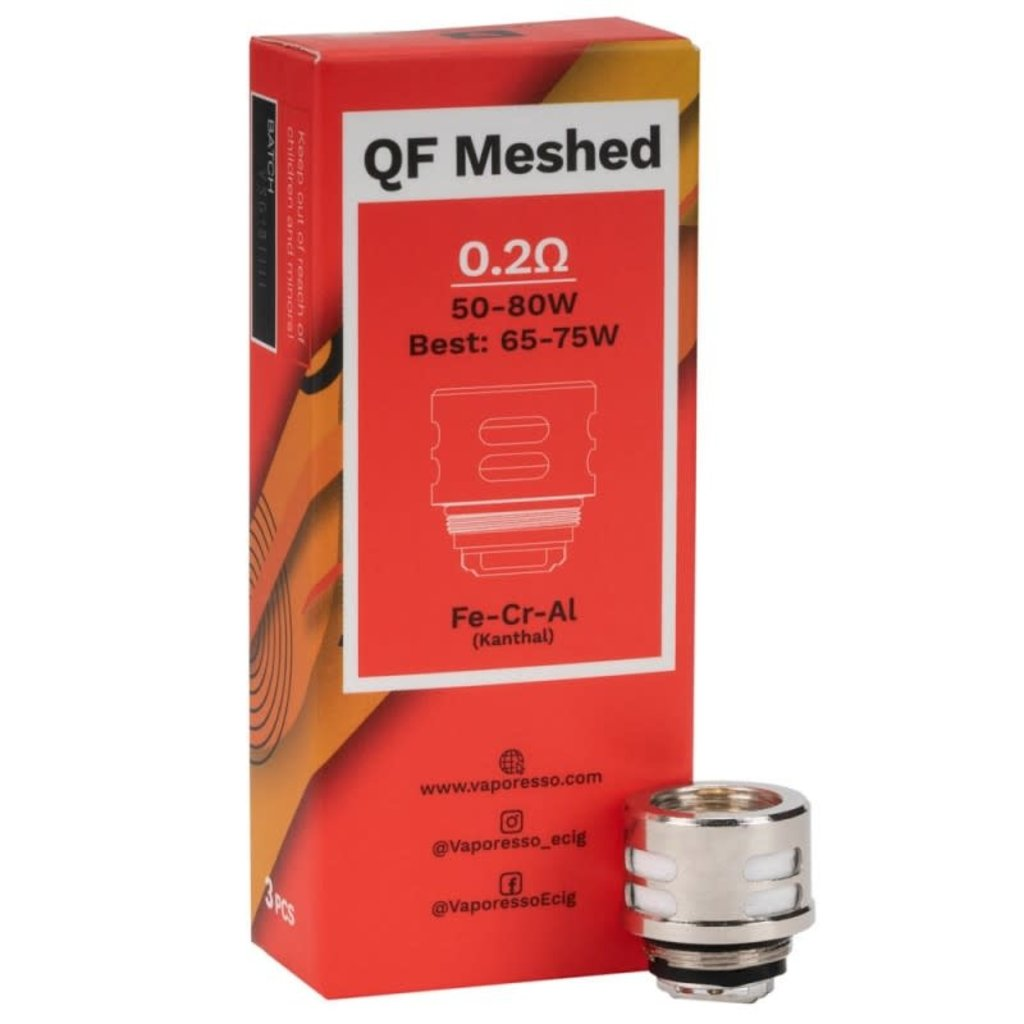 COIL QF MESHED BY VAPORESSO 3/PK -  0.2ohm