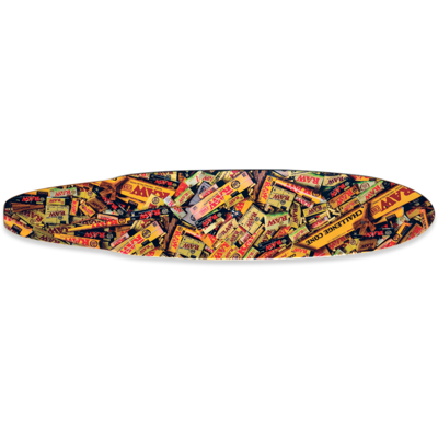 RAW RAW  DUCKTAIL LONG GOLD SKATE BOARD