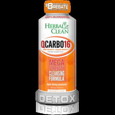 HERBAL CLEAN DETOX HERBAL CLEAN QCARBO16 MEGA STRENGTH 16floz -