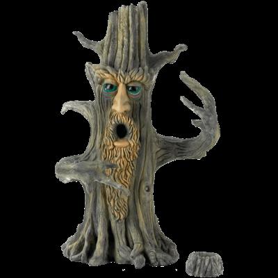"INCENSE BURNER 11"" UPRIGHT TREE MAN STICK & CONE DESIGN"