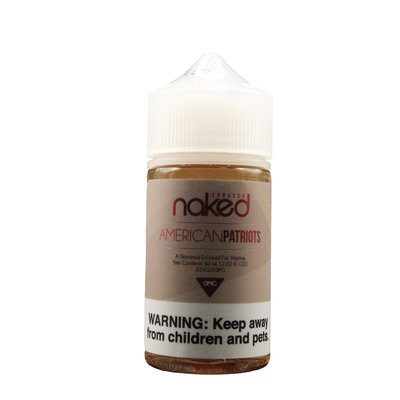 NAKED NAKED100 E-JUICE 60ml - TOBACCO AMERICAN PATRIOTS