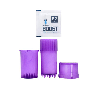 GRINDER MEDTAINER SMELL PROOF  W/ BOVEDA - CLEAR PURPLE