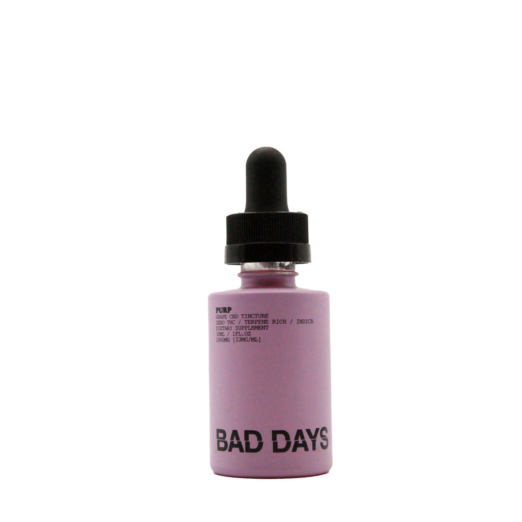 BAD DAYS BAD DAYS CBD TINCTURE GRAPE - PURP -