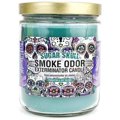 SMOKE ODOR EXTERMINATOR CANDLE 13oz SUGAR SKULL