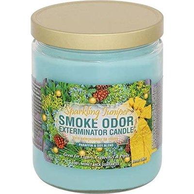 SMOKE ODOR EXTERMINATOR CANDLE 13oz SPARKLING JUNIPER