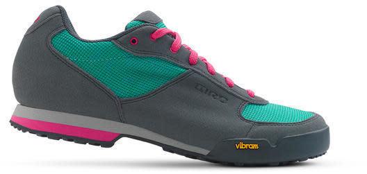 Giro Petra VR Touring Shoe Women's, 39, Turquoise/ Pink