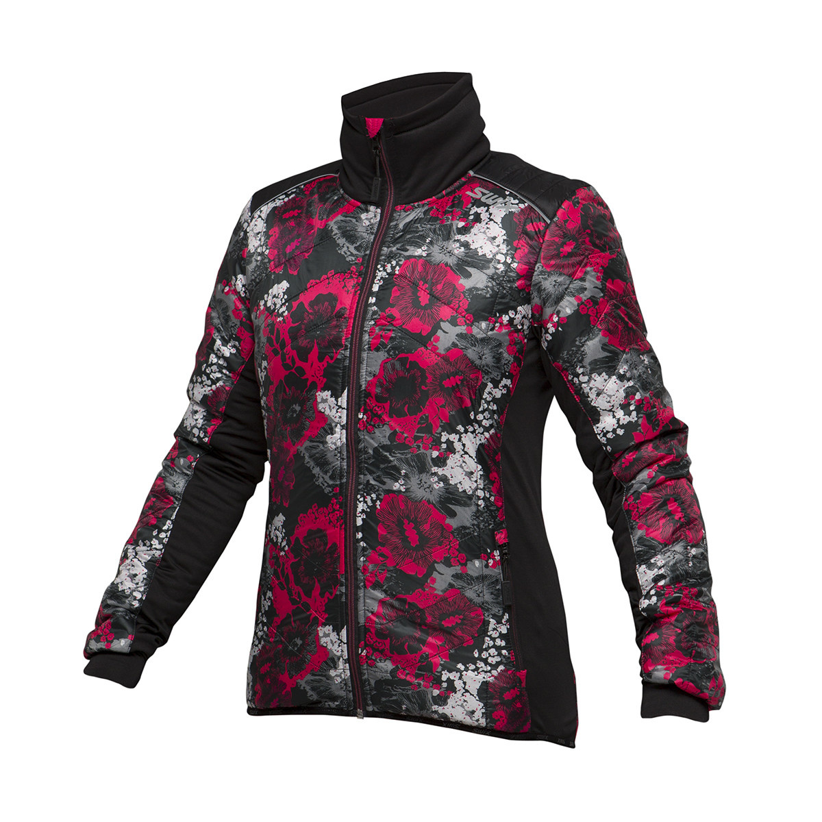 Swix Swix Menali Quilted Jacket Women's, Large, Pink Floral