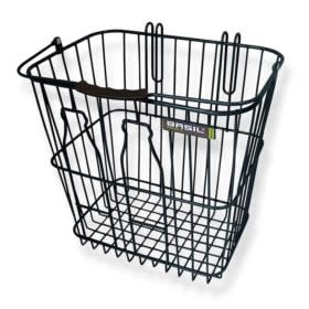 Basil Bottle Rear basket, Black