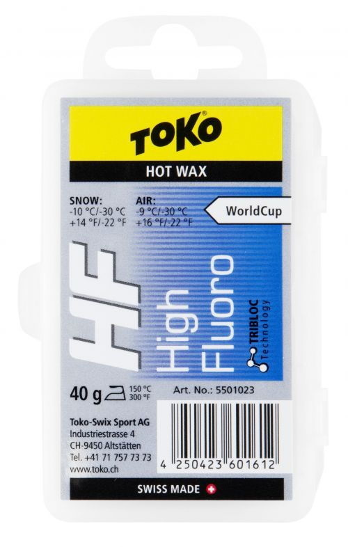 Toko HF Wax Blue (-10 to -30), 40g