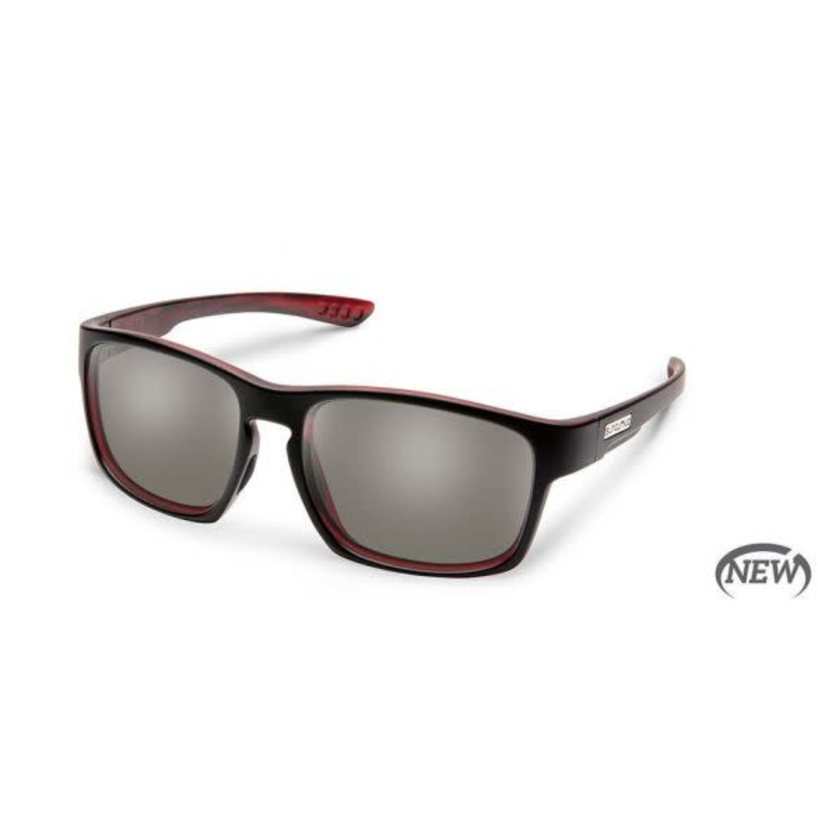 Suncloud Suncloud Fairfield, Burnished Red/ Polarized Gray
