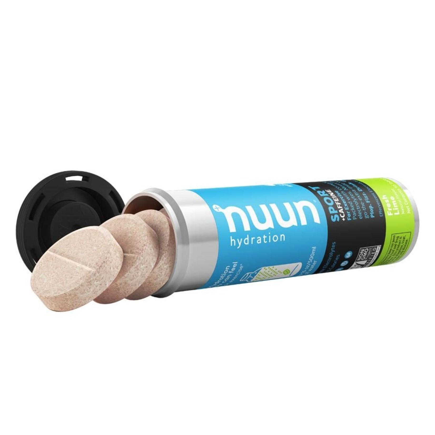 Nuun Nuun Sport+ Caffeine Drink Tablets Fresh Lime 10 Servings