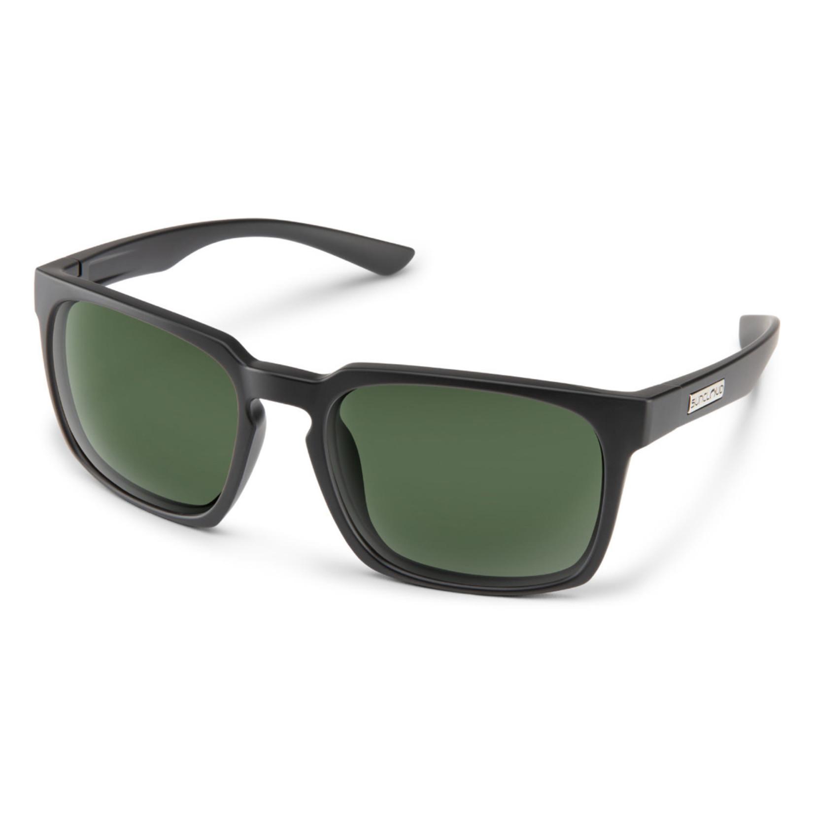 Suncloud Suncloud Hundo, Matte Black/ Polarized Green