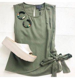 Greylin Chelsea Solid Front Tie Top