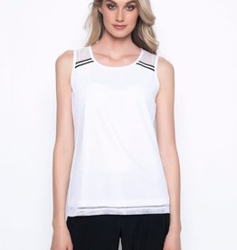 Tank With Stripe Trim