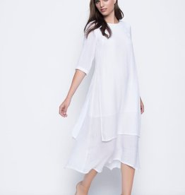 ¾ Sleeve Layered Dress