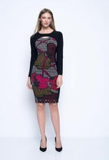 Solid Trimmed Long Sleeve Dress