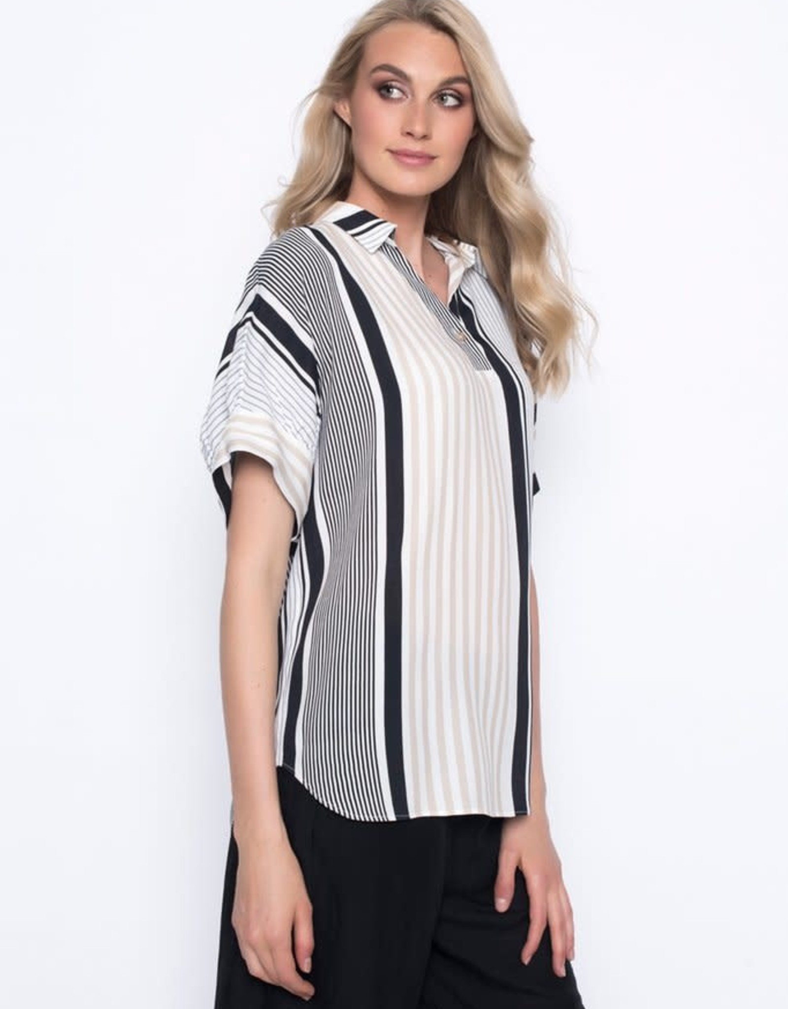 Stripe Collar Top