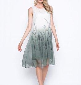 Custom Print Sleeveless Long Dress