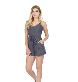 Textured Romper with Pockets